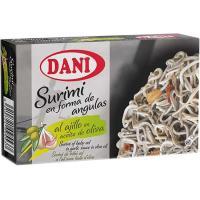 Surimi al ajillo en aceite de oliva DANI, lata 110 g