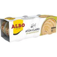 Atún claro en aceite de oliva ALBO, pack 6x65 g
