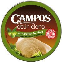 Atún claro en aceite de oliva CAMPOS, lata 160 g