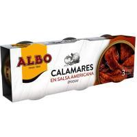 Calamar en salsa americana ALBO, pack 3x65 g