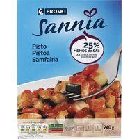 Pisto de verduras EROSKI Sannia, bandeja 240 g