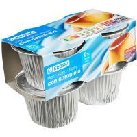 Flan de huevo 0% EROSKI, pack 4x100 g
