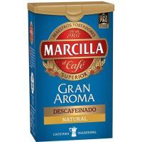 Café molido descafeinado natural MARCILLA, click plack 200 g