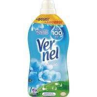 Suavizante concentrado azul VERNEL, botella 54+3 dosis