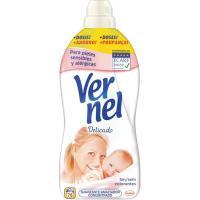 Suavizante concentrado delicado VERNEL, botella 76 dosis
