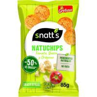 Natuchips de tomate-queso-orégano SNATT`S, bolsa 85 g