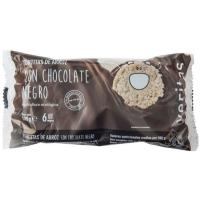Tortitas de arroz chocolate negro VERITAS, paquete 100 g