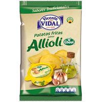 Patatas fritas sabor allioli V. VIDAL, bolsa 153 g