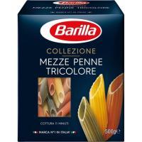 Mezze Penne Tricolore BARILLA, caja 500 g