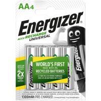 Pila recargable HR6 (AA) 1300 mAh ENERGIZER, pack 4 uds
