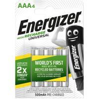 Pila recargable HR03 (AAA) 500 mAh ENERGIZER, pack 4 uds
