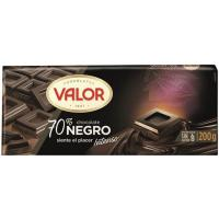 Chocolate negro 70% cacao VALOR, tableta 200 g