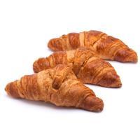 Croissant recto de margarina, bandeja 4 uds.