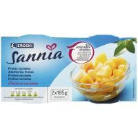 Frutas variadas sin azúcar EROSKI Sannia, pack 2x115 g