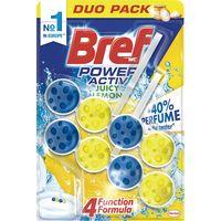 Limpiador wc poder activo limón BREF, pack 2u