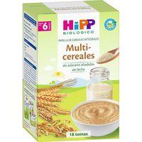 Papilla biológica de multicereales HIPP, pack 2x200 g