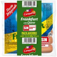 Salchichas Frankfurt de queso CAMPOFRÍO, sobre 420 g