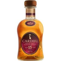 Whisky 15 años CARDHU, botella 70 cl