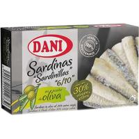 Sardinilla en aceite de oliva virgen DANI, lata 90 g