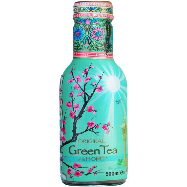 Refresco de té verde-miel honey ARIZONA, botella 50 cl