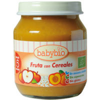 Potito de fruta-cereales BABYBIO, tarrito 260 g