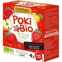 Poki de manzana-fresa DANIVAL, pack 360 g