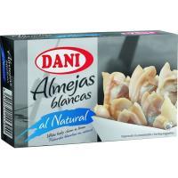 Almejas al natural DANI, lata 63 g
