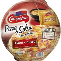 Pizza de jamón-queso con salsa cheddar CAMPOFRÍO, 1 ud., 360 g