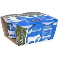 Yogur natural LACTUYOGUR, pack 4x125 g