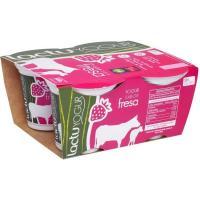 Yogur de fresa LACTUYOGUR, pack 4x125 g