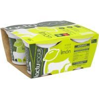 Yogur de limón LACTUYOGUR, pack 4x125 g