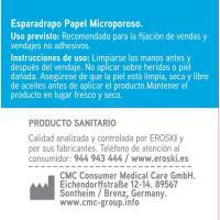 Esparadrapo microporoso EROSKI, pack 1 unid.