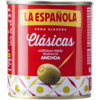 Aceitunas rellenas de anchoa LA ESPAÑOLA, lata 100 g