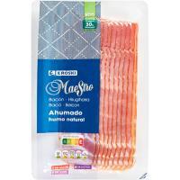 Bacon ahumado con humo natural EROSKI Maestro, sobre 150 g