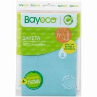 Bayeta microfibra baños-cristales BAYECO, pack 1 ud