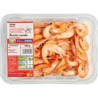 Langostino cocido 80-100 EROSKI basic, bandeja 450 g