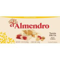Turrón de frutas EL ALMENDRO, caja 200 g