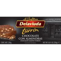 Turrón de chocolate-almendras DELAVIUDA, caja 300 g