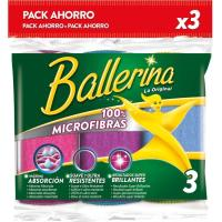 Bayeta de microfibras BALLERINA Collection, pack 3 unid.