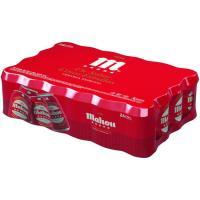 Cerveza MAHOU 5 Estrellas, pack lata 24x33 cl