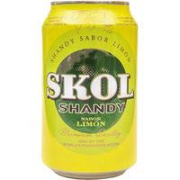 Cerveza shandy  SKOL, lata 33 cl