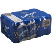Cerveza 0,0 SAN MIGUEL, pack lata 12x33 cl