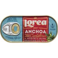 Anchoa del Cantábrico bajo en sal LOREA, lata 30 g