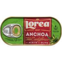 Anchoa del Cantábrico en aceita de oliva LOREA, lata 30 g