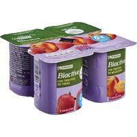 Yogur Biactive desnatado fresa, melocotón