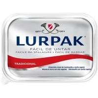 Mantequilla sin sal fácil de untar LURPACK, tarrina 200 g