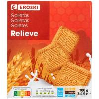 Galleta relieve EROSKI, caja 700 g