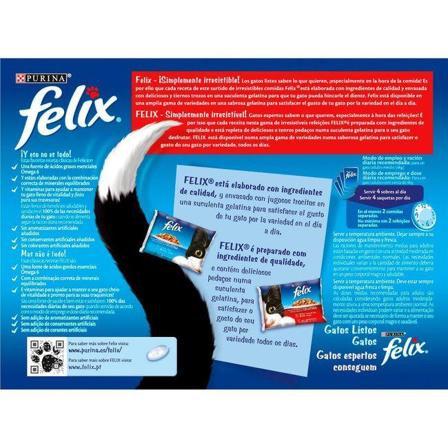 Gelatina estandar de carne FÉLIX, pack 12x100 g