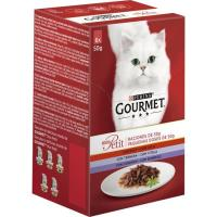 Mon Petit de carne para gato GOURMET, pack 6x50 g