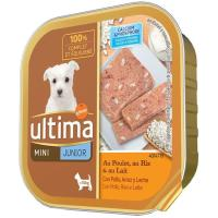 Alimento de pollo-arroz perro mini junior ULTIMA, tarrina 150 g
